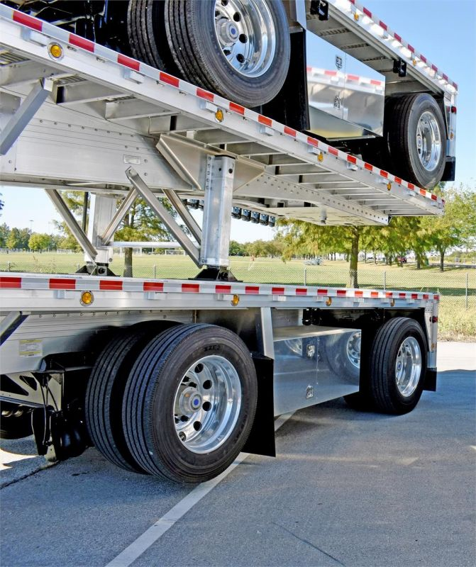 2021 REITNOUER BIG BUBBA ALUMINUM FLATBED TRAILER W/LIFT AXLE 5252919275