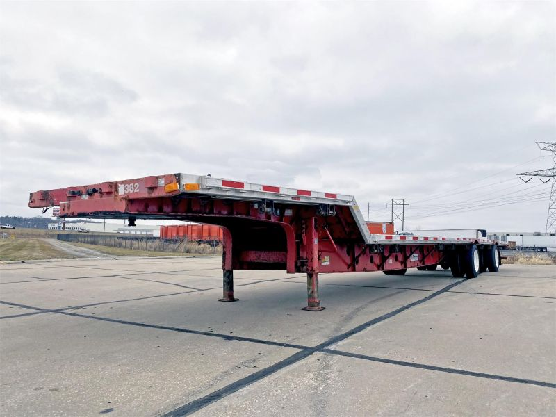 2009 TRANSCRAFT 53'  TRANSCRAFT FLATBED TRAILER 6225685783
