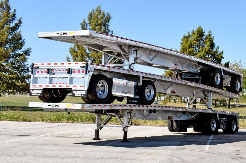 2022 REITNOUER BIG BUBBA ALUMINUM FLATBED TRAILER W/LIFT AXLE 5253203471